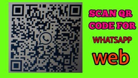 Scan QR code for WhatsApp Web
